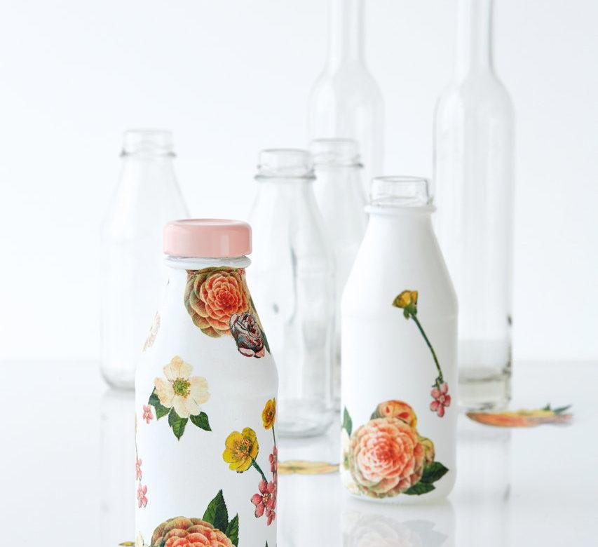 Декупаж бутылок своими руками — 30+ Идей для начинающих и не только